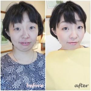 東京・青山 サロン・ド・ルミエール カラー・メイクレッスン before & after