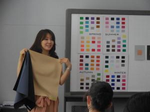 サンケイリビング東京本社 ICD国際カラーデザイン協会認証パーソナルカラーレッスン