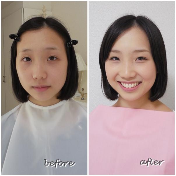 東京・青山のパーソナルカラー診断&メイクアップサロン サロン・ド・ルミエール before & after