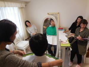 東京・青山パーソナルカラースクール サロン・ド・ルミエール メンズ実習