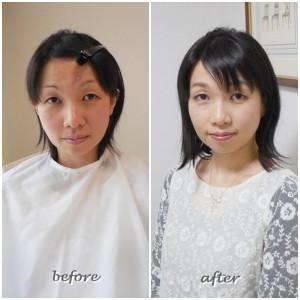 東京・南青山 サロン・ド・ルミエール 劇的before & after メイクアップ