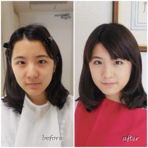 劇的before & after パーソナルカラー診断、メイクアップサロン 東京、青山のサロン・ド・ルミエール