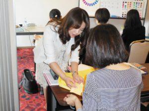 東京・青山のパーソナルカラー診断&メイクアップスクール 企業研修