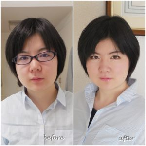 パーソナルカラー診断&フルメイクアップレッスン。骨格スタイル診断 東京・南青山 劇的before & after