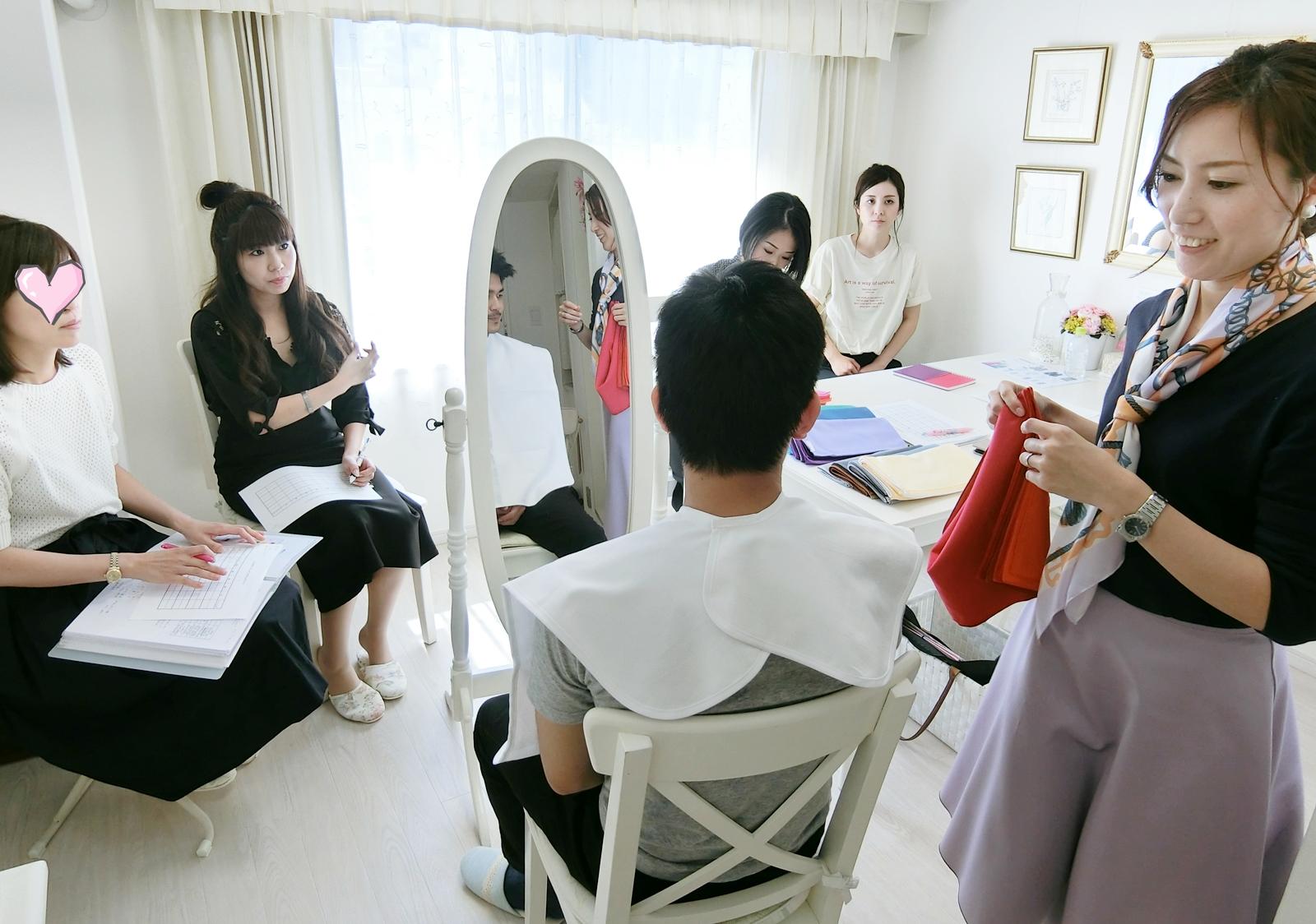 キャリア20年の現役カラリスト海保麻里子が直接指導!仕事になるためのスキルを学べる!東京・青山のパーソナルカラー&メイクアップスクール サロン・ド・ルミエール