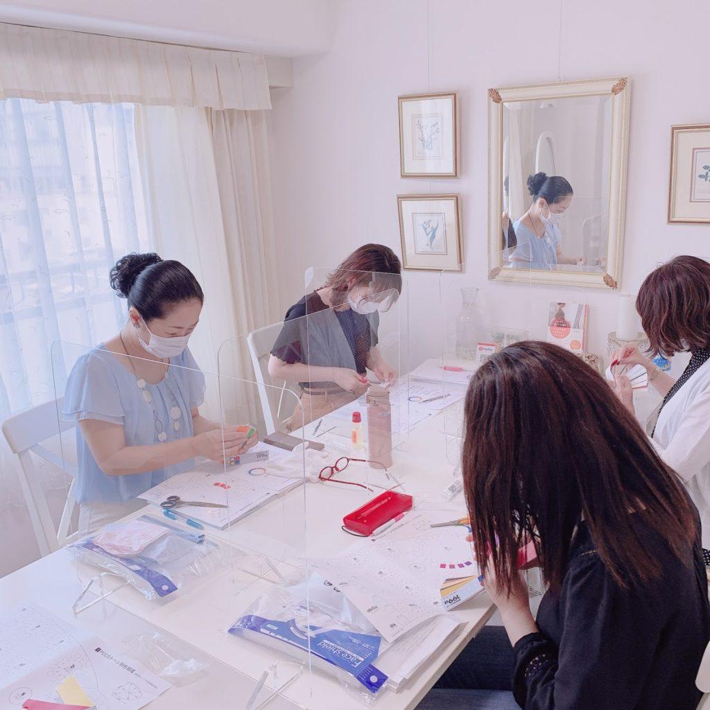 東京・青山のパーソナルカラーアナリスト養成講座ならサロン・ド・ルミエール 7月短期校―ス開講しました