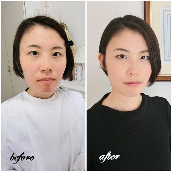 東京・青山のパーソナルカラー診断、メイクレッスン、骨格診断、顔診断のサロン・ド・ルミエール 劇的before & after