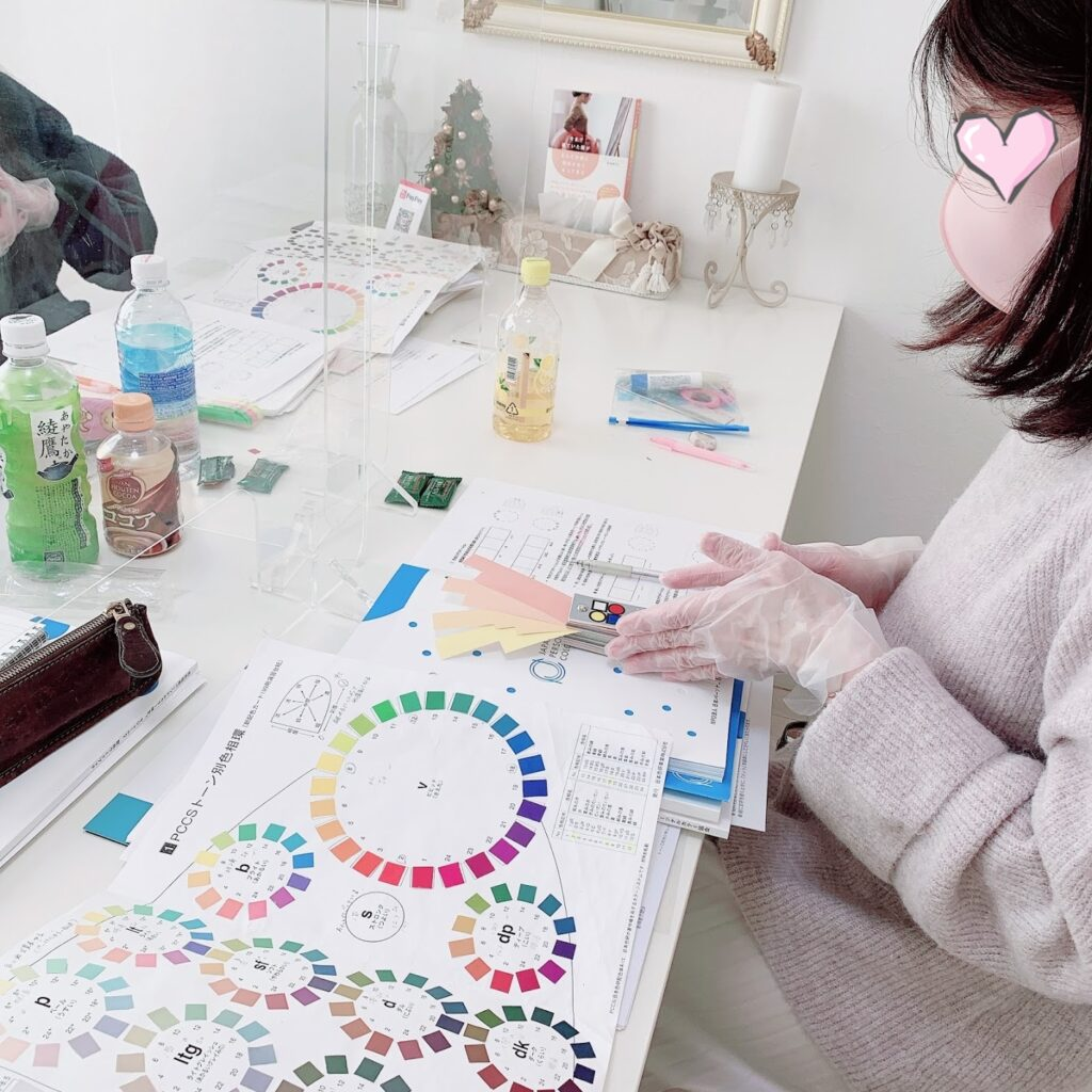 色彩技能パーソナルカラー検定対策講座 授業風景