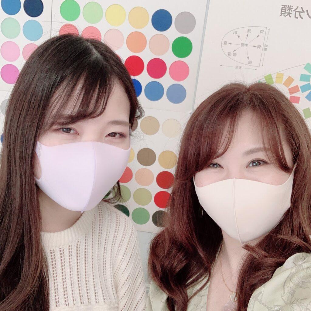 東京・青山のパーソナルカラー診断、メイクレッスン、骨格診断、顔診断のサロン・ド・ルミエールお客様写真